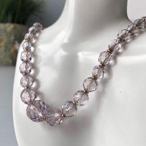 Simmons Crystal Necklace, Vintage Purple Designer